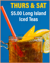 $5.00 Long Island Iced Teas at Pour House on Derry