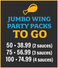 Jumbo Wing Party Packs To Go
